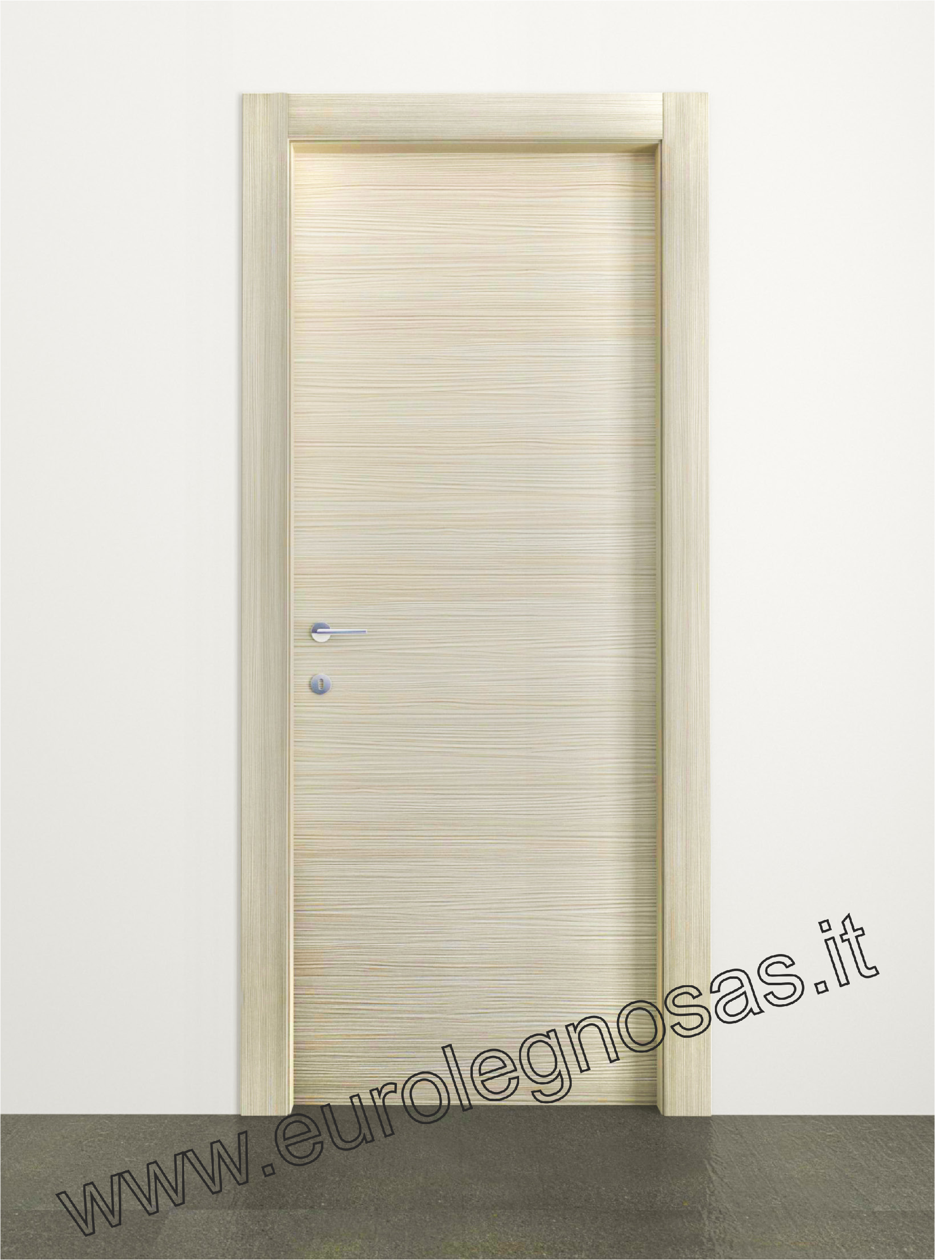 Porte In Larice Bianco.Porta Collezione Essenziale Con Cerniere Scomparsa E Serratura