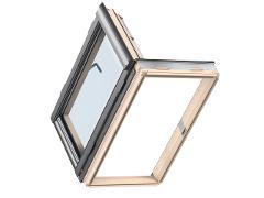 Finestra per linea vita in legno naturale larghezza netta maggiore di 70 cm(area maggiore di 0,5 m2) VELUX GXL  3070