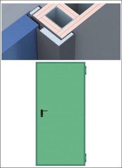 Porte Tagliafuoco REI 120 per pareti in  CARTONGESSO da 125 mm. anta singola e doppia NINZ  PROGET