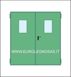 Porte Tagliafuoco Rei 120 2 ante Mod. UNIVER con oblò in pronta consegna. NINZ  UNIVER