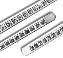 Inserto in alluminio per porte con pietre simil swarosky  3597STRASSE