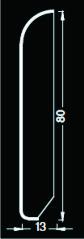 Zoccoletto impiallacciato su multistrato. TECNORIVES 80X13X2400