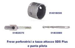 Frese perforatrici a tazza attacco  SDS Plus e punta pilota. INECO SDS PLUS
