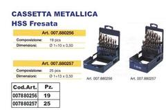 Cassetta Metallica  HSS Fresata. INECO HSS Fresata
