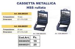 Cassetta Metallica HSS rullata. INECO HSS rullata