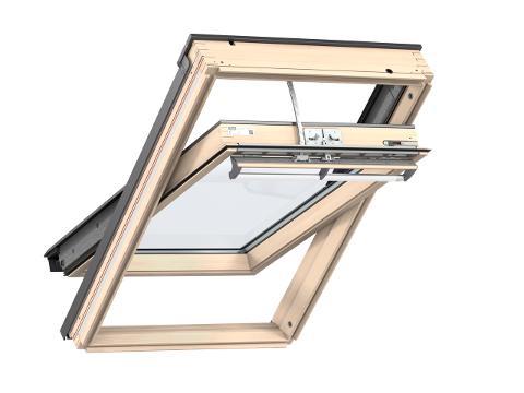 Finestra INTEGRA  in legno naturale con apertura a bilico elettrica VELUX GGL 307021 INTEGRA
