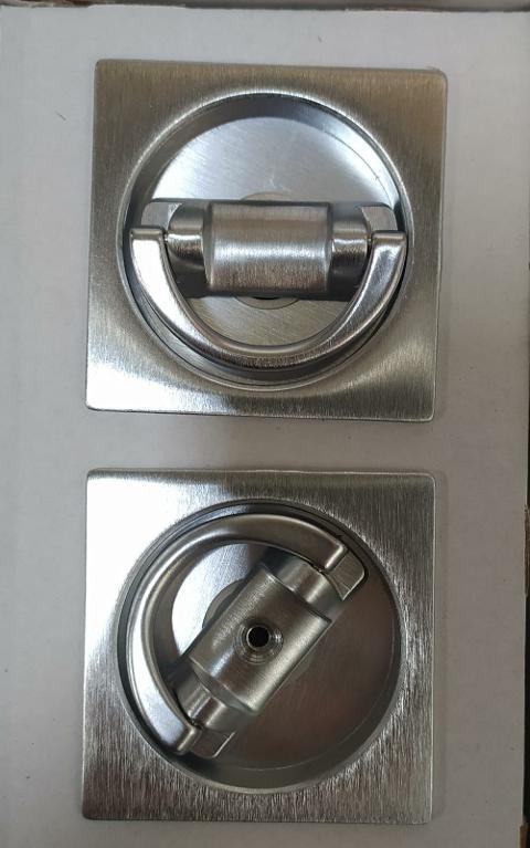 kit manigliette quadrate con pendaglio Cromo satinato Forme KQ06 Cromo satinato