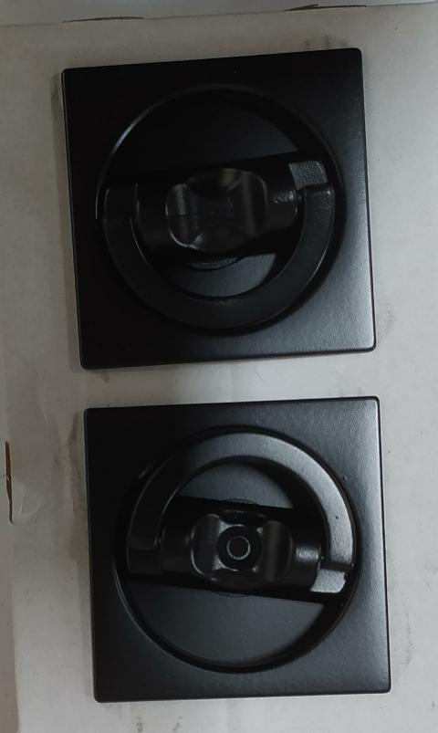 kit manigliette quadrate con pendaglio Nero opaco Forme KQ06 Nero opaco N52