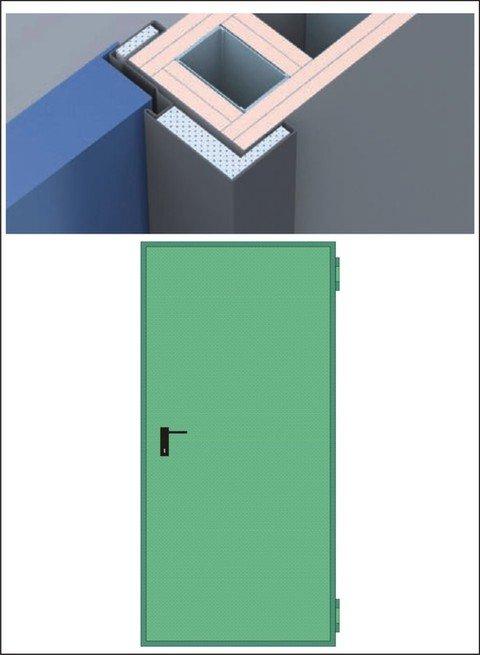 Porte Tagliafuoco REI 120 per pareti in  CARTONGESSO da 125 mm anta singola e doppia. NINZ  PROGET