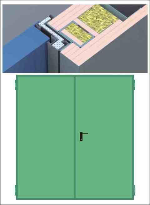 Porte Tagliafuoco REI 120 per pareti in CARTONGESSO da 150 mm anta doppia NINZ  PROGET