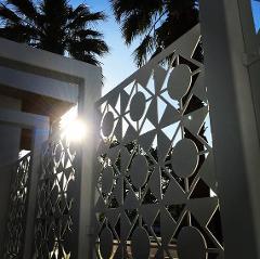 Divisori/Pannelli decorati in lamiera alluminio, corten e acciaio
