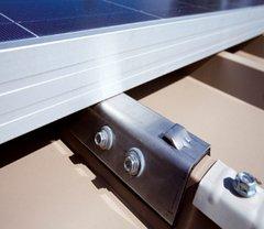 Morsetto lamiera acciaio inox strutture pannelli fotovoltaici