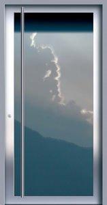 Porte d'ingresso in acciaio inox