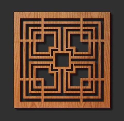 Taglio getto d'acqua e lavorazione su legno e i suoi derivati.
