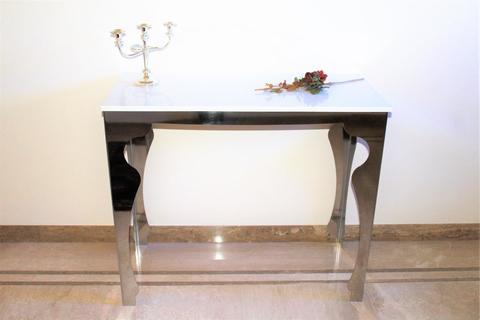 TAVOLO/CONSOLLE IN ACCIAIO INOX-TABLE STRUCTURE IN STAINLESS STEEL