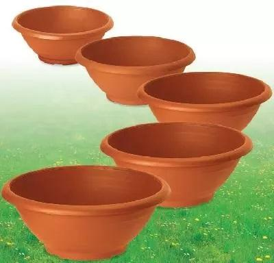 Vasi in Plastica Color Terracotta