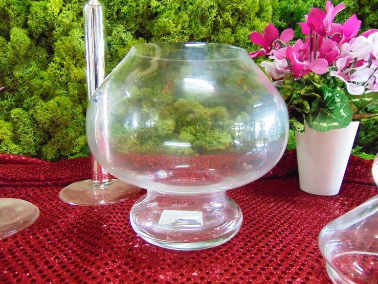 Portaconfetti in vetro con coperchio H 27 - Dm. 18 per ...