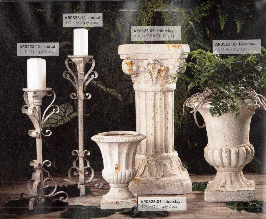 Colonna, Calici e Candelabri  effetto ruggine per matrimonio