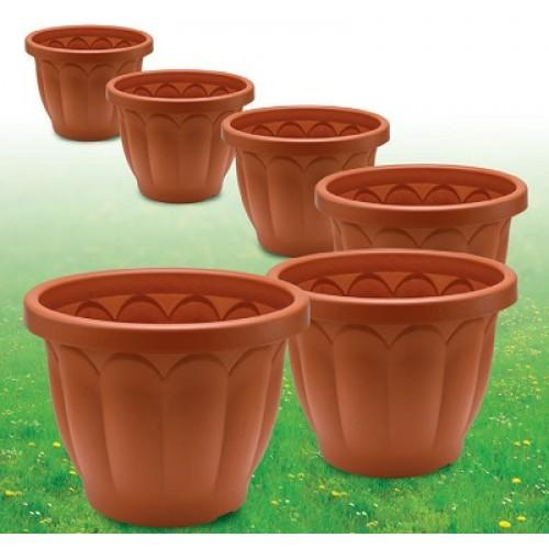 Vaso dorico color terracotta