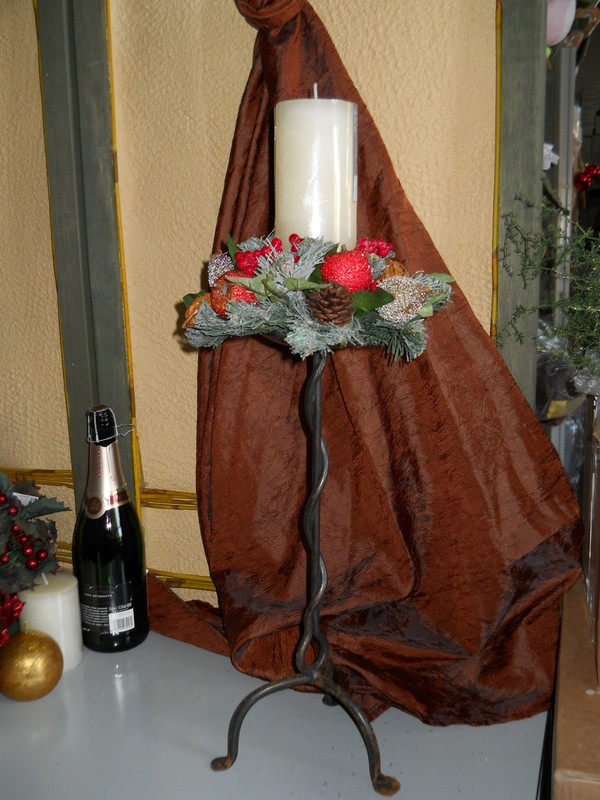 Porta candela in ferro h 40 san michele di ganzaria for Porta candela