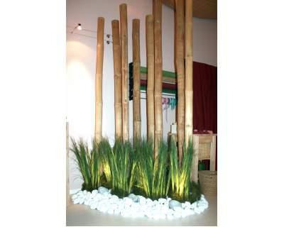 Canne di bamboo dm 12 14 cm san michele di ganzaria for Bambu arredamento