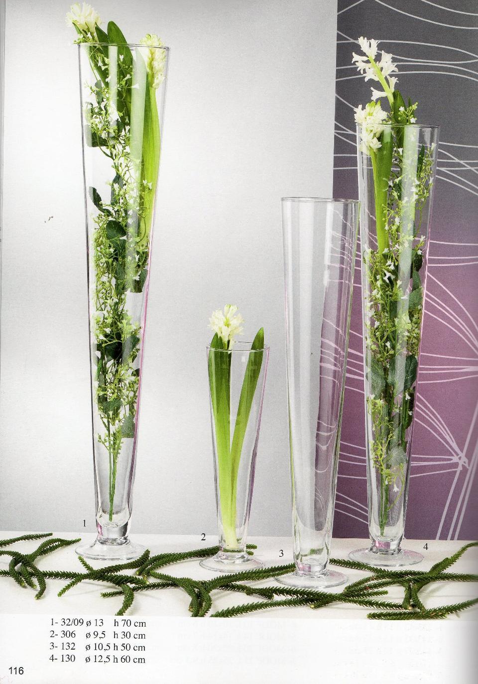 Composizioni Floreali In Vasi Di Vetro Alti