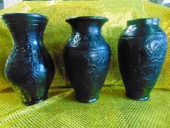 Vaso Ceramica H 30  Neagro