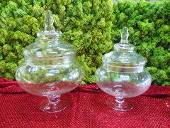 Confettiera in vetro c/coperchio in due misure