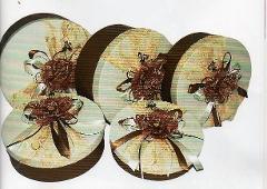 Scatole Cappelliere tonde x 5 Decoro  in diverse misure