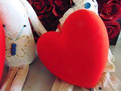Cuore Velluto da appendere in 2 misure Articolo per San Valentino - Sconti per Fioristi e Aziende