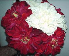 Dalia large  in velluto Rosso