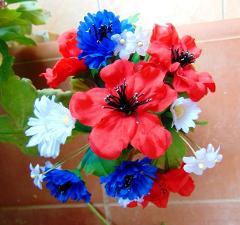 Mazzo Primavera x 20 fiori misti alto cm. 20