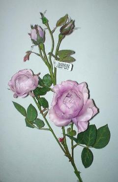 Rosa paul x 4 Artificiale in poliestere per fioristi e wedding