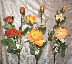 Rose Royal x 3 Velvet Artificiale in poliestere per fioristi e wedding