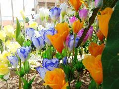 Lisiantus Artificiali x 4  in poliester per fioristi e wedding