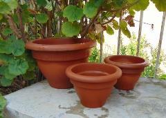 Vaso Campana Terracotta in due misure