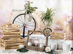 Bicicletta stile '800 H 67 L.76x34 in legno e metallo