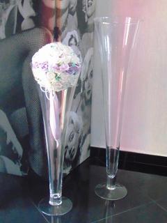 Vaso Tromba H 60 dm. 20 in vetro trasparente
