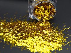 Glitter grana grossa e media  barattolo gr. 75 e 85  Oro/Rosso/Argento