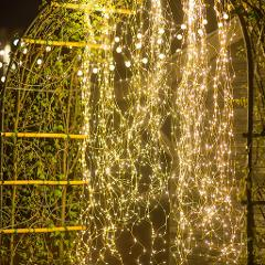 Cascata 880 luci led per esterno luce calda e fredda