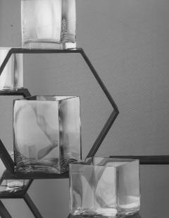 Vasi Vetro Rettangolare  con base cm. 18 x 18 altezze diverse - Sconti per Fioristi e Aziende