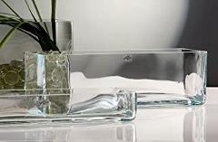 Vaschetta Rettangolare in Vetro cm. 36 x 10 H 15 - Sconti per Fioristi e Aziende