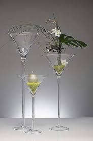 Coppa Martini H 30 dm.16,5  in vetro per Fioristi e Wedding