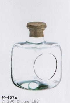 Ampolla Vetro da Appendere H 23 dm.19 con cordino