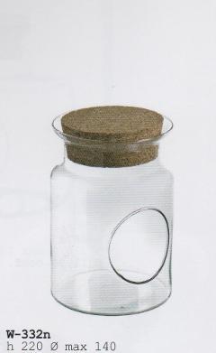 Ampolla Vetro da Appendere H 22 dm.14 con cordino