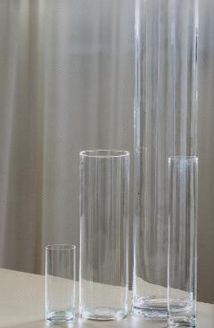 Cilindro Vetro H 30 dm. 8 - Sconti per Fioristi e Aziende