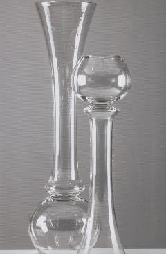 Vaso in vetro Ramino H 100 dm. 25 per fioristi e wedding