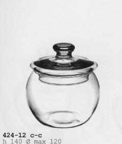 Zuccheriera in vetro con coperchio dm.14 H 12 - Sconti per Fioristi e Aziende