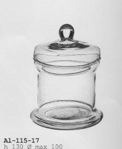 Zuccheriera in vetro con coperchio dm.10 H 13 - Sconti per Fioristi e Aziende