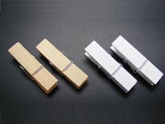 Mollette in legno naturale e bianco mm 19 - Sconti per Fioristi e Aziende